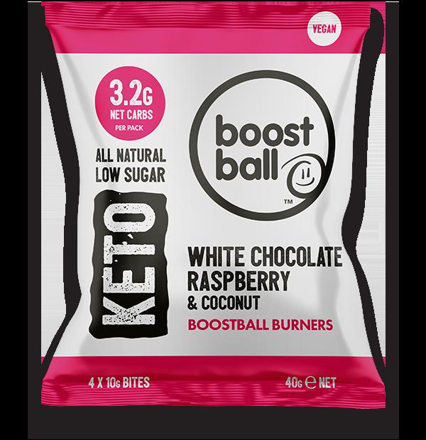Boostballs - Keto White Chocolate Raspberry Bites - 40g