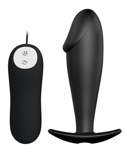 PRETTY LOVE SILICONE VIBRATING ANAL PLUG 12 SPEEDS