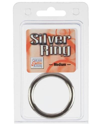 SILVER METAL RING MEDIUM 3.75 CM