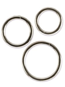 SILVER RING SET 3 PACK