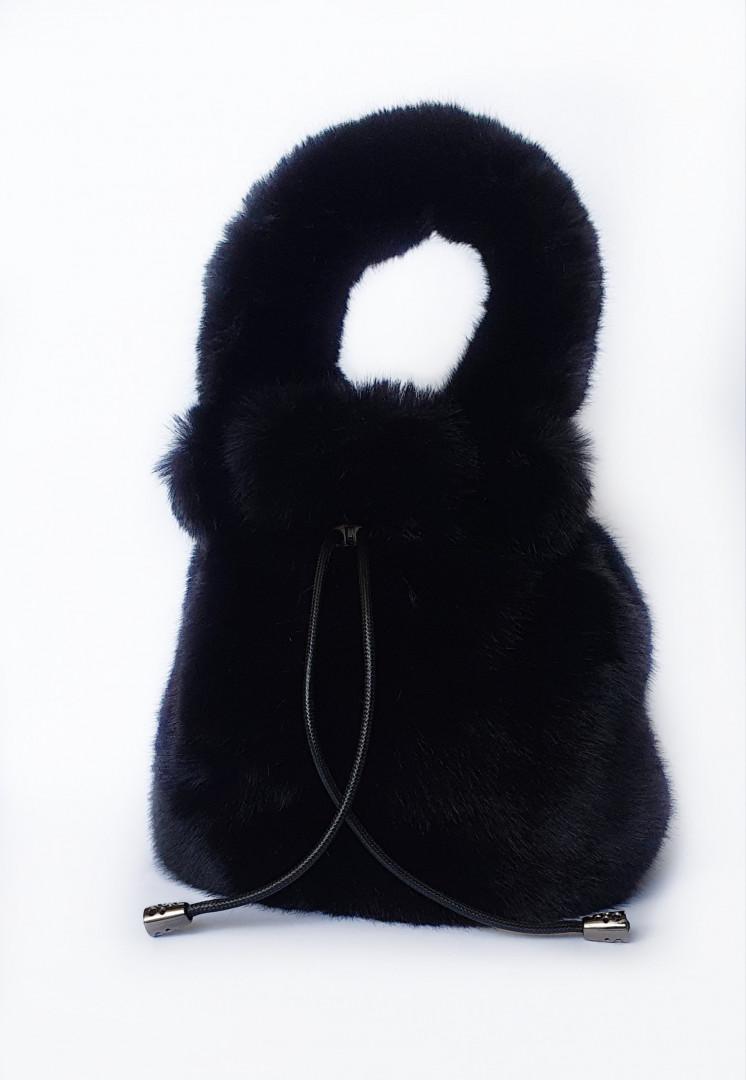 Bambi fluffy bag (Black)