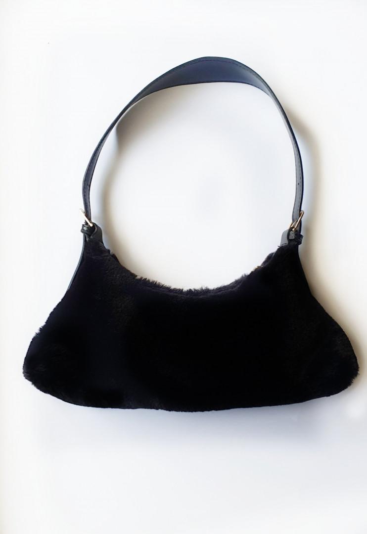 Betty fur bag (black)