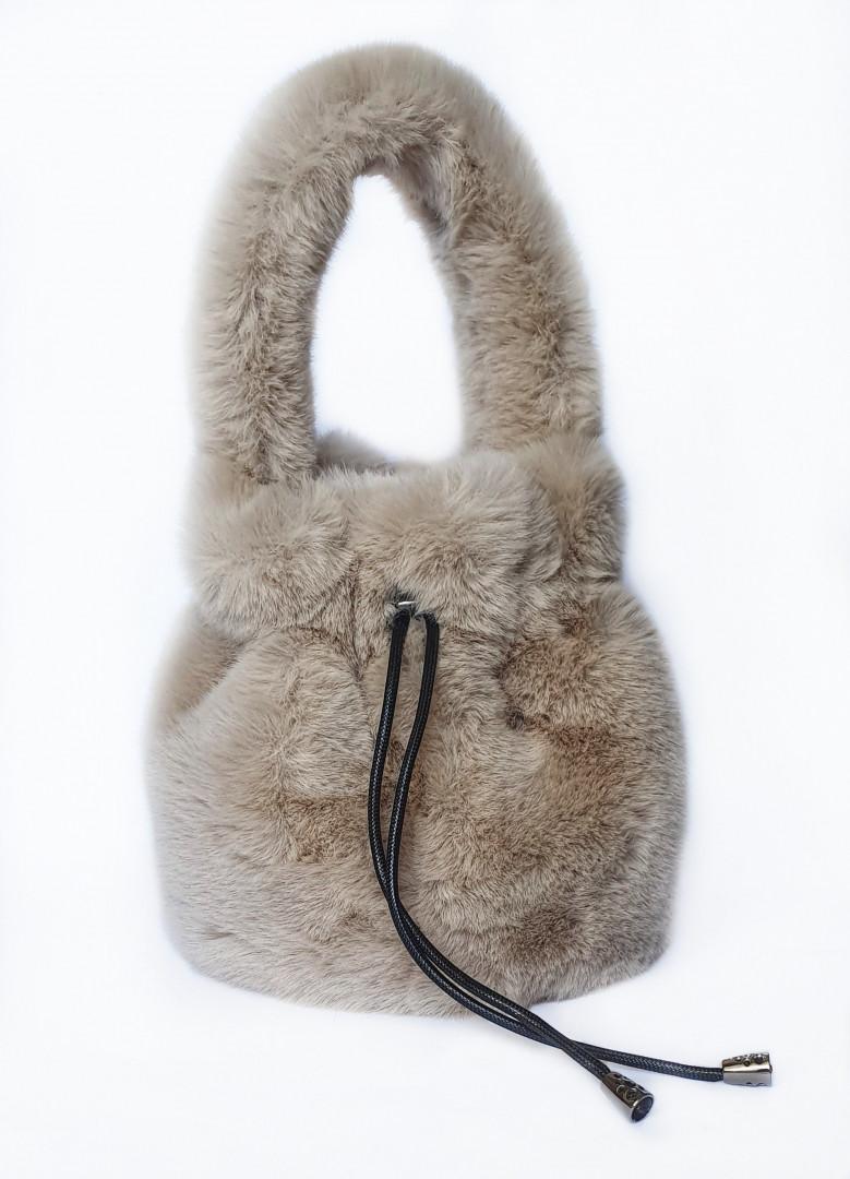Bambi fluffy bag (Beige)
