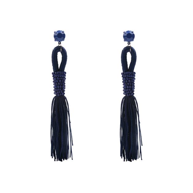 Zuzu tassel earrings (blue)