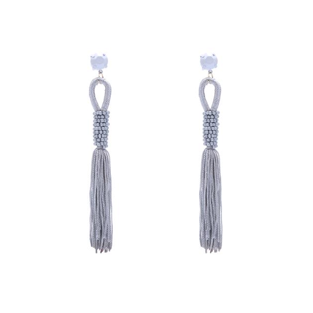 Zuzu tassel earrings (grey)