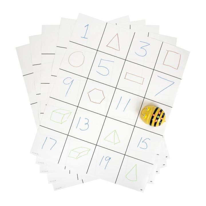 Χαλάκι για Bee-Bot - Λευκό πλέγμα (set 10pcs)