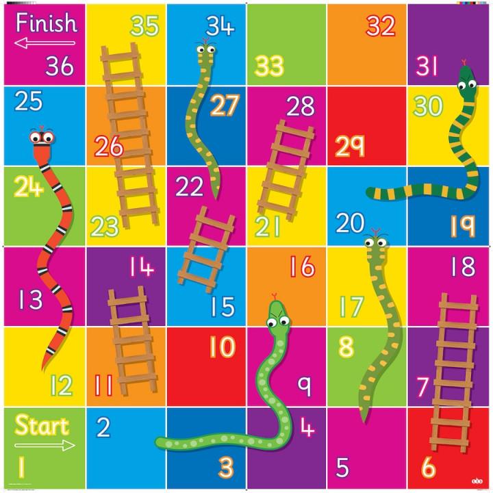 Χαλάκι για Bee-Bot - Φιδάκια και Σκάλες (παιχνίδι)
