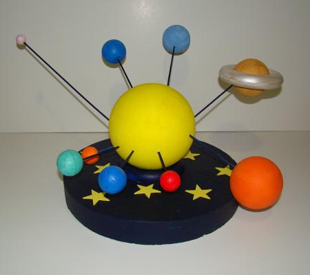 Κατασκευή Ηλιακό Σύστημα με μπάλες πολυστερίνης