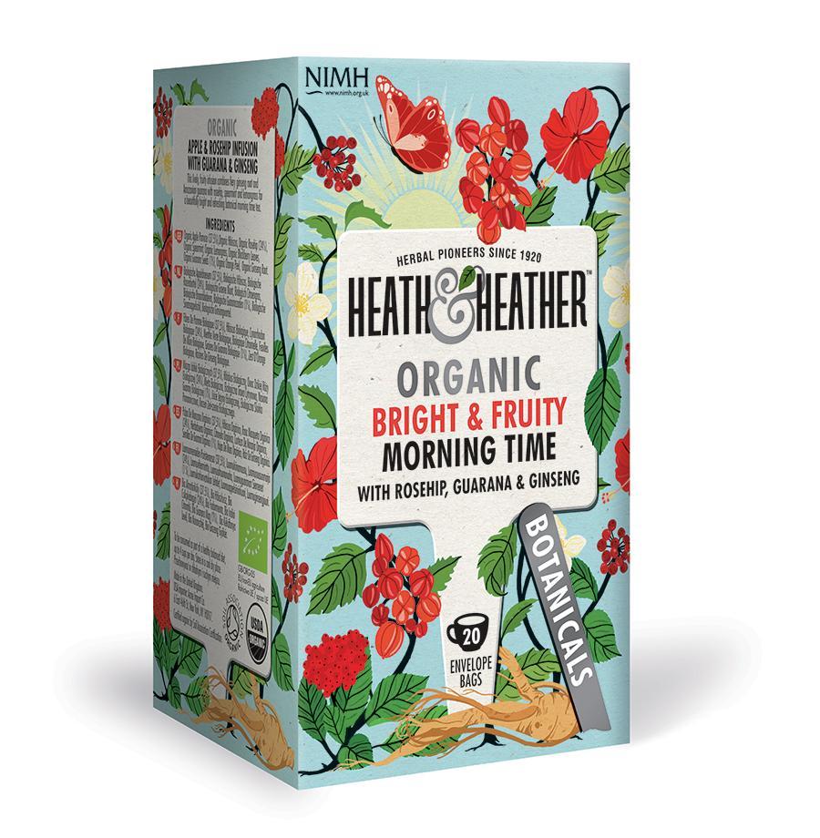 HEATH & HEATHER ORGANIC MORNING TIME TEA 40g