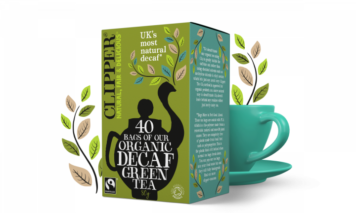 CLIPPER ORGANIC DECAF GREEN TEA 40g