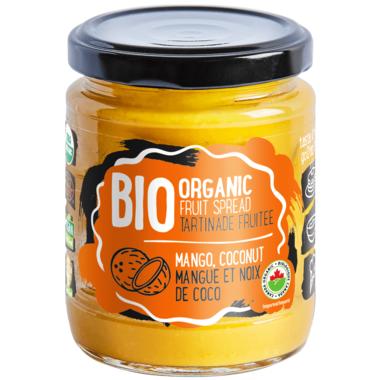 ORGANIC FRUIT SPREAD MANGO, COCONUT 245 g