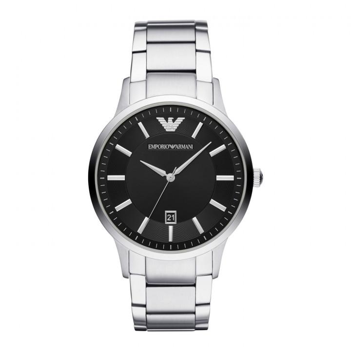 EMPORIO ARMANI Men's Stainless Steel Watch Black Dial