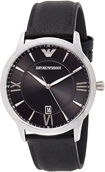EMPORIO ARMANI Men's Stainless Steel Watch Black strap