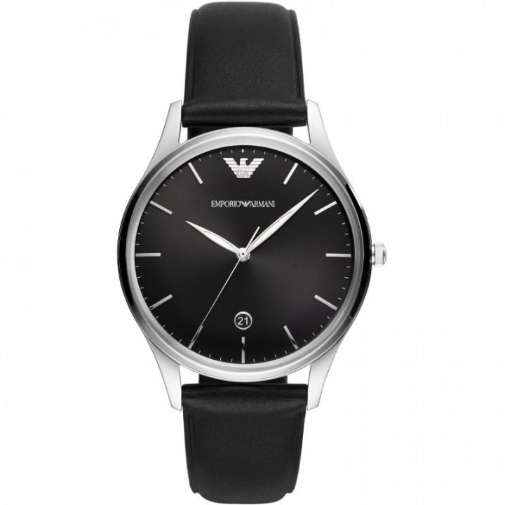 EMPORIO ARMANI Men's vintage Stainless Steel Watch Black strap