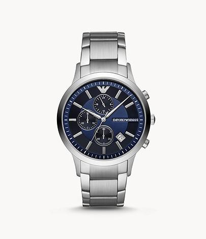 EMPORIO ARMANI Men's Chronograph Stainless Steel Watch