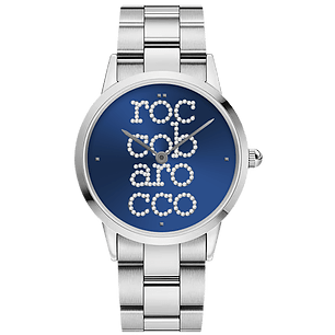 ROCCO BAROCCO SIGNATURE STEEL BLUE DIAL - SS Case Ø 36 mm - SS Solid Strap