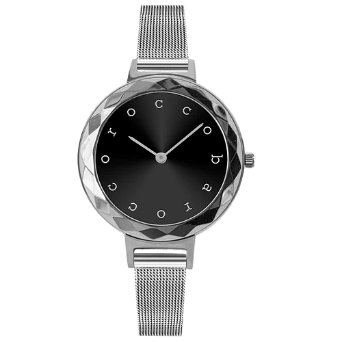 ROCCO BAROCCO EXCHANGE STEEL BLACK DIAL - SS Case Ø 32 mm - Meshband