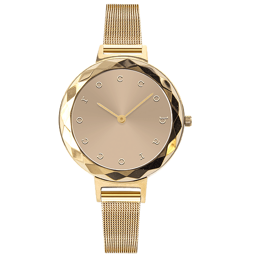 ROCCO BAROCCO EXCHANGE GOLD - SS Case Ø 32 mm - Meshband