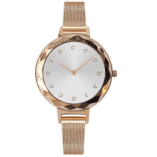 ROCCO BAROCCO EXCHANGE GOLD BLUE DIAL - SS Case Ø 32 mm - Meshband