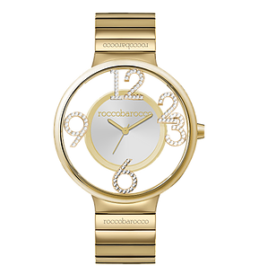 ROCCO BAROCCO MAGIC GOLD STEEL - SS Case Ø 36 mm - SS Solid Strap