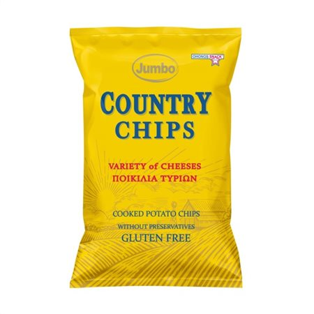 JUMBO COUNTRY CHIPS VARIETY OF CHEESES 150G