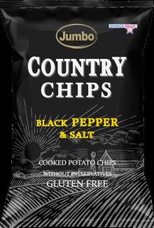 JUMBO COUNTRY CHIPS BLACK PEPPER & SALT 150G