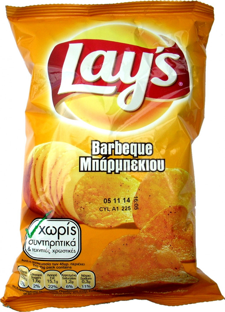 LAYS BARBEQUE 45G