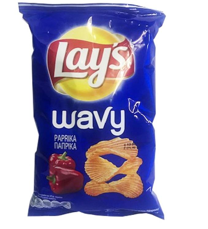 lays wavy paprika