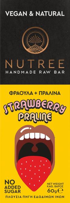 Nutree STRAWBERRY PRALINE BAR 60GR
