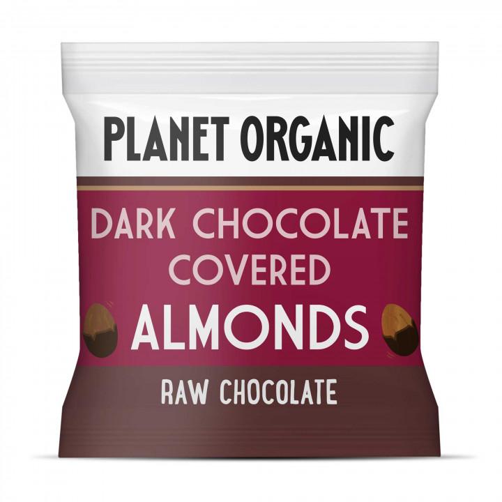 PLANET ORGANIC DARK CHOCOLATE COVERED ALMONDS 30G