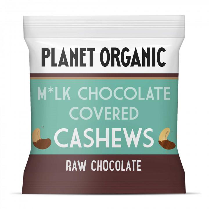 PLANET ORGANIC MILK CHOCOLATE COVERED CASHEWS 30G