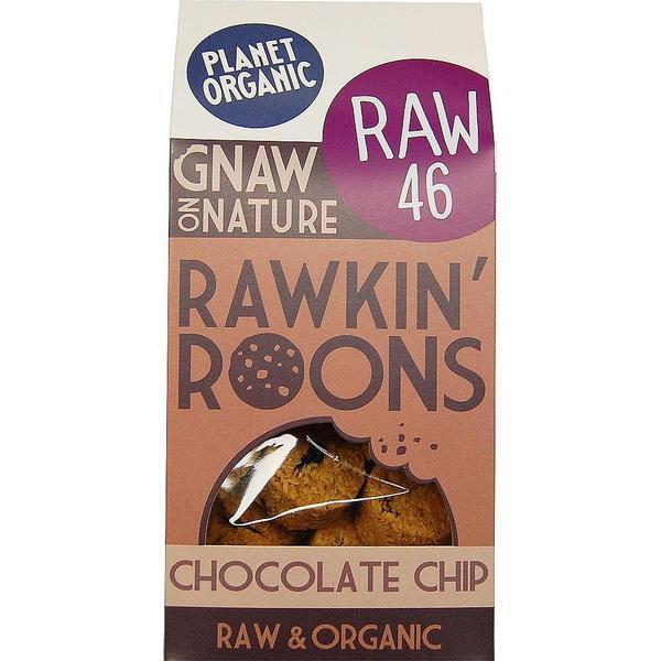 PLANET ORGANIC CHOCOLATE CHIP RAWKIN ROONS 90G