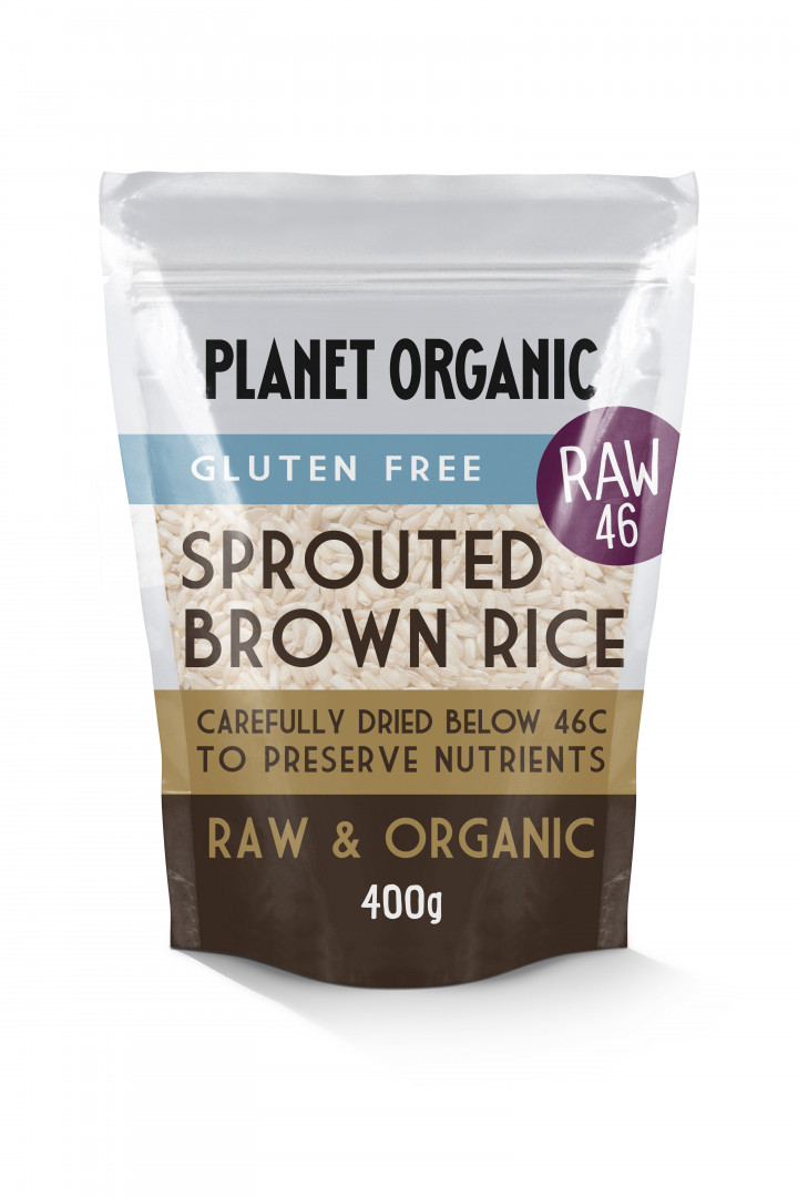 PLANET ORGANIC SPROUTED BROWN RICE 400G