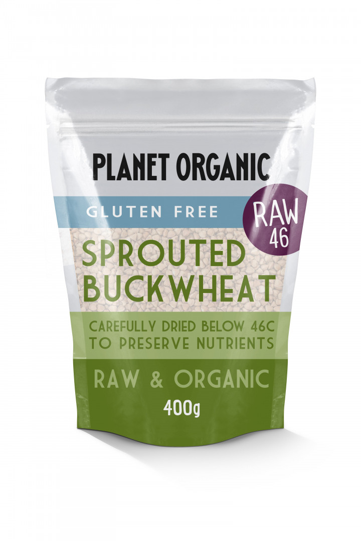 PLANET ORGANIC SPROUTED BUCKWHEAT 400G
