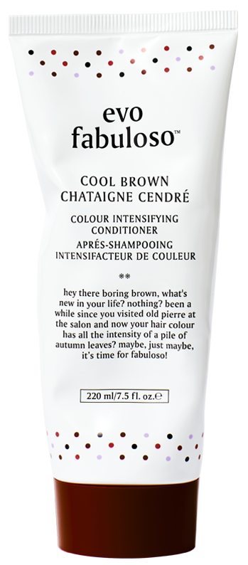 evo fabuloso cool brown colour intensifying conditioner 220ml