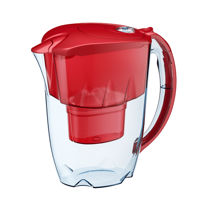 Water Jug with filter ''JASPER'' Ruby Red