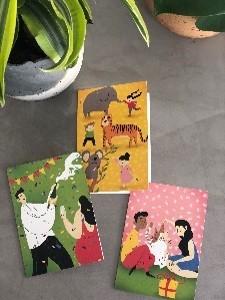 Ευχετήριες κάρτες για όλες τις περιπτώσεις - Συσκευασία 3ων τεμαχίων