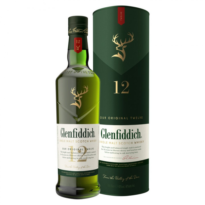 WHISKY GLENFIDDICH SINGLE MALT 12Y/O 70CL