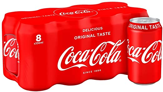 COCA COLA 330ML X 8 CANS