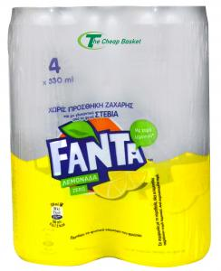 FANTA LEMONADA STEVIA 4X330ML