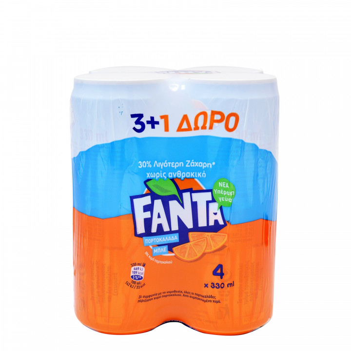 FANTA PORTOKALADA STEVIA 330ML 1X4