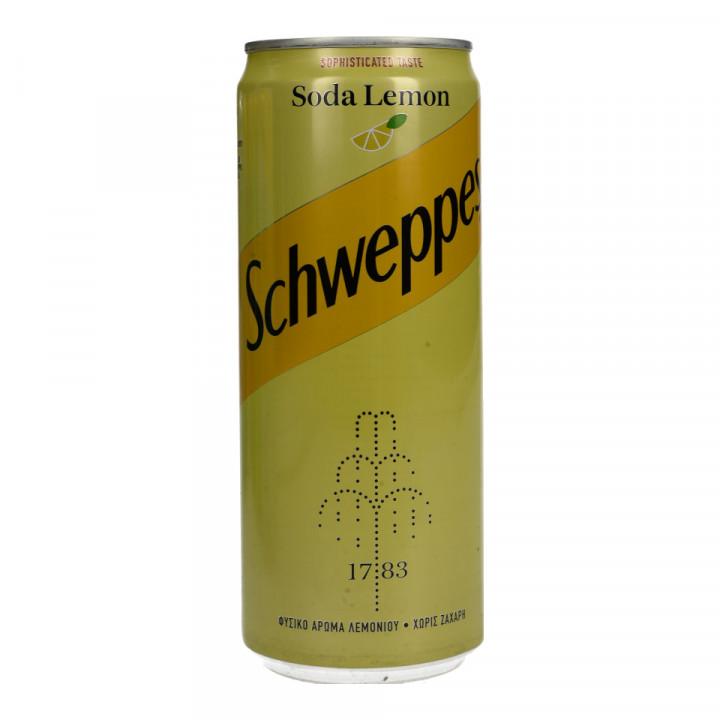 SCHWEPPES SODA LEMON 330ML