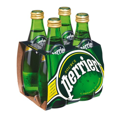 PERRIER MINERAL WATER 33CL X 4