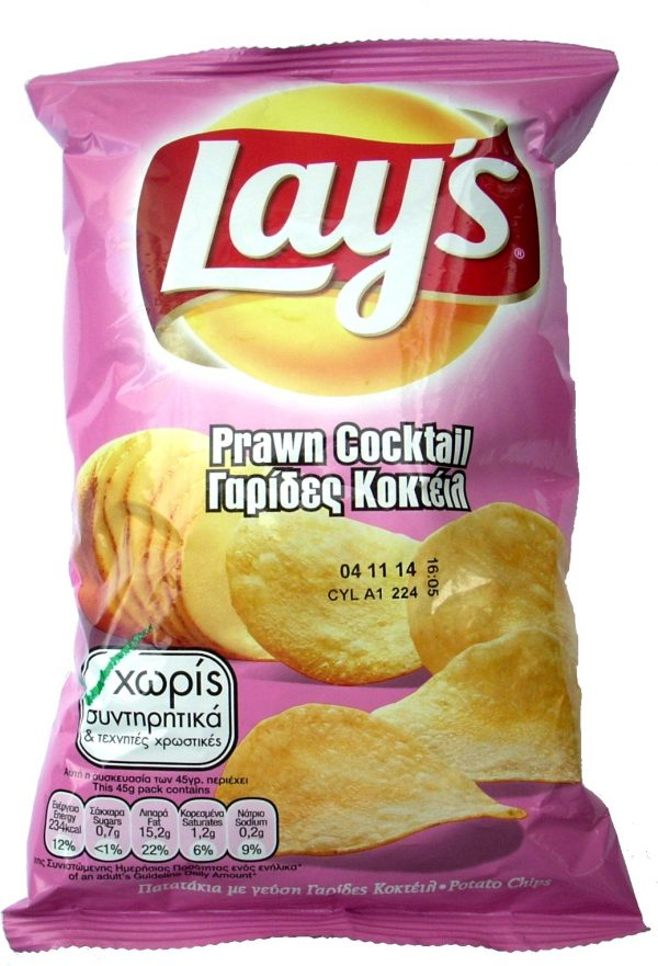 LAYS PRAWS COCKTAIL 90GR