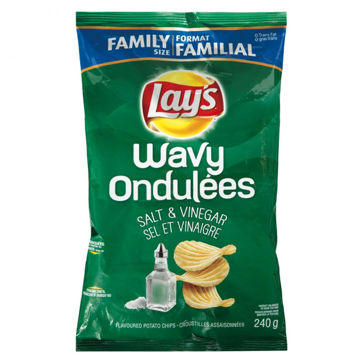 LAYS WAVY SALT & VINEGAR 47G