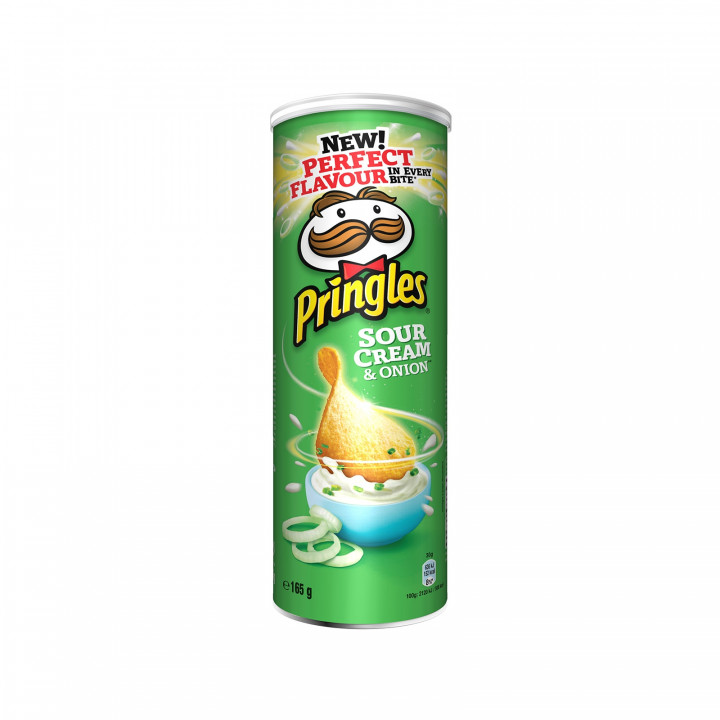 PRINGLES SOUR CREAM 165GR