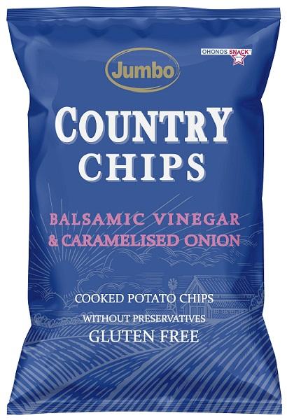 JUMBO COUNTRY CHIPS BALSAMIC VINEGAR & CARAMELISED ONION 150G