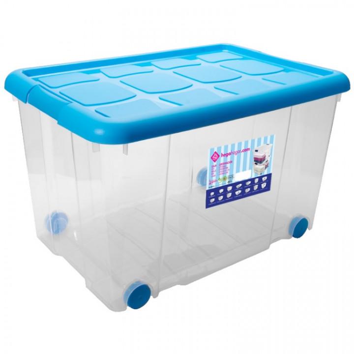 CHEST  NEW BOX  W/CLIPS & WHEELS 55 L