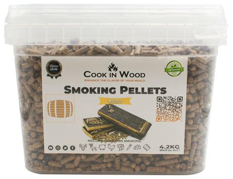 COOKINWOOD 4.2KG WHISKEY SMOKING PELLETS