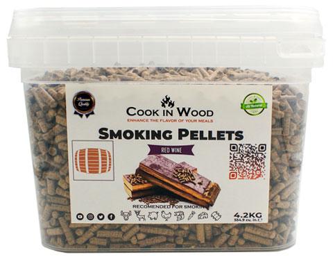 COOKINWOOD 4.2KG RED WINE SMOKING PELLETS